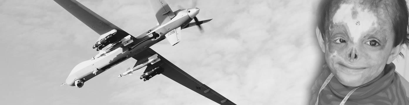 A Reaper Drone Silhouette