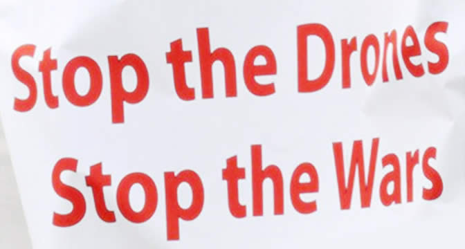 Protest Message - Stop the Drones, Stop the Wars